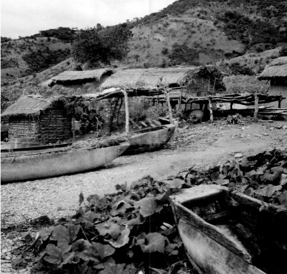Zyoba canoes drying 1950
