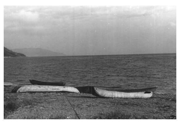 Zyoba canoes drying number 25 1950