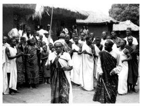 Bwari chief Son of Mvuano, surr by Rundi, Bwari1950