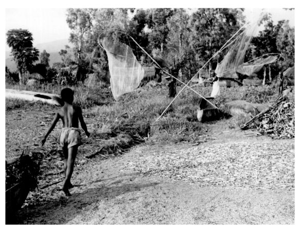 nets drying near zyoba village 1950