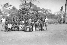 schoolkids in village with their mwalimu teacherbembe223